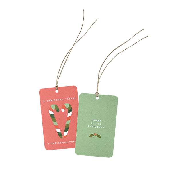 'Merry Little Christmas Treat' Gift Tag Set of 10 Christmas Tags