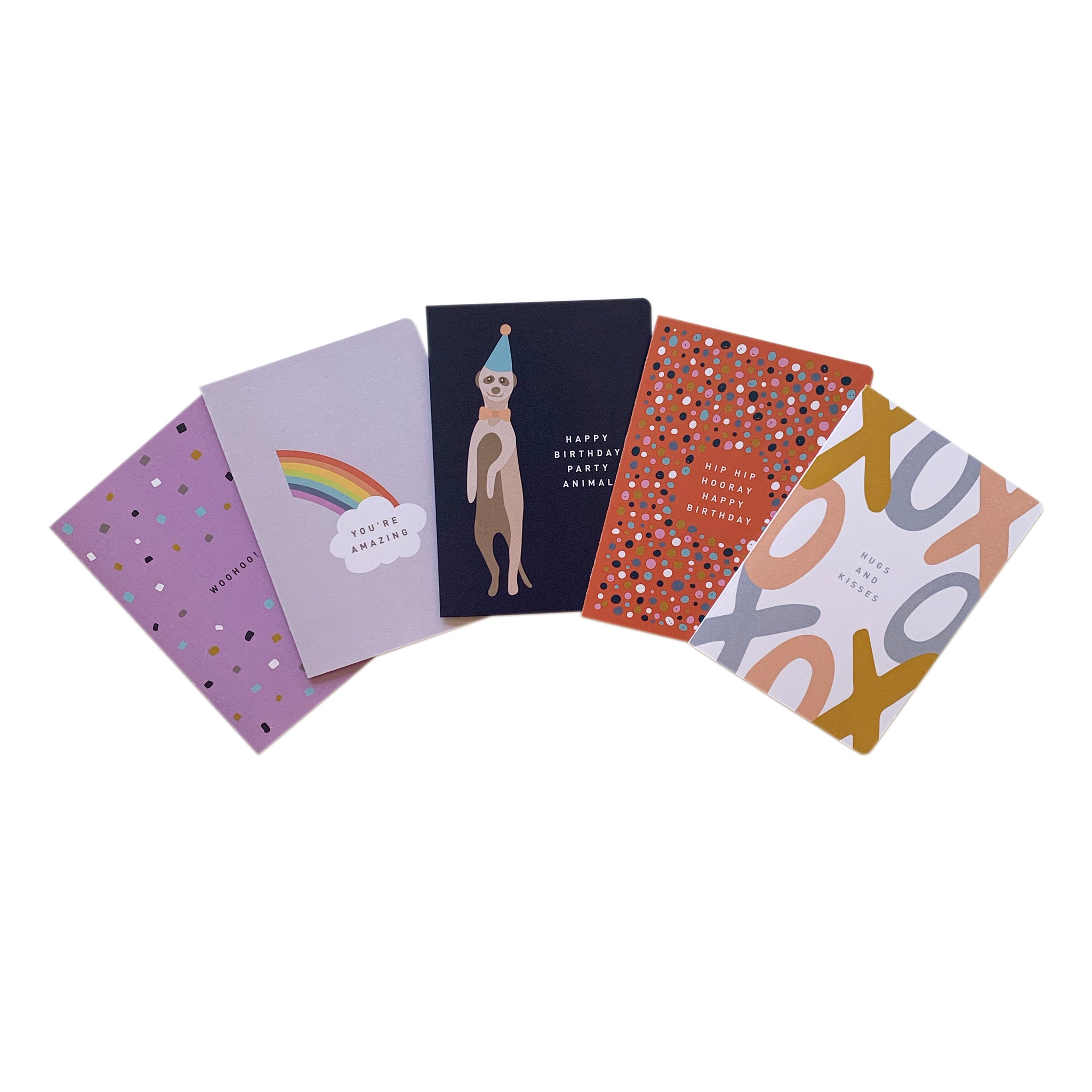 'Fab Five' Greeting Card Mixed Set of 5