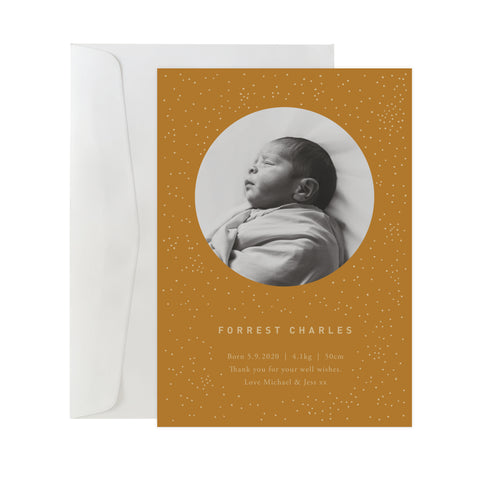 'Celestial' Birth Announcement Card