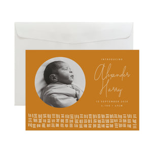 'Checker Plate' Birth Announcement Card