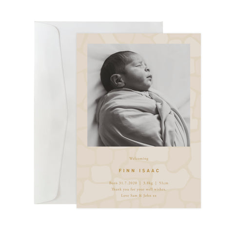 'Paved' Birth Announcement Card
