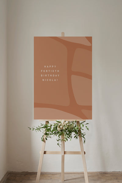 'Abstract Leaves' Custom Event Poster