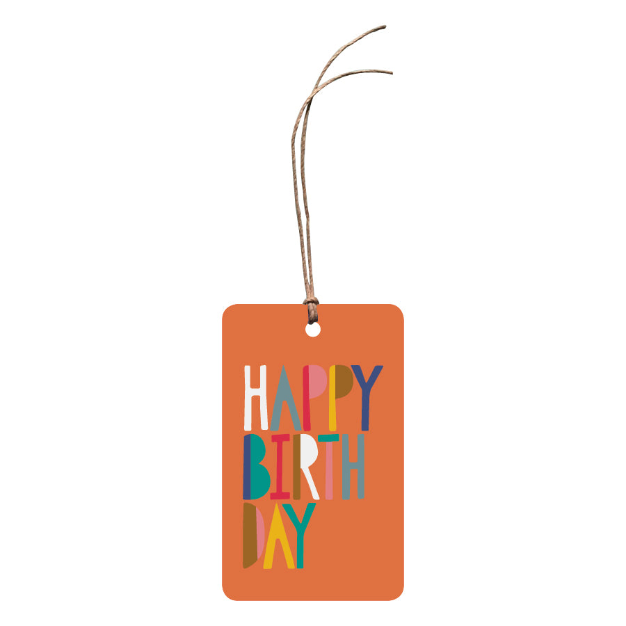 'Happy Birthday' Gift Tag
