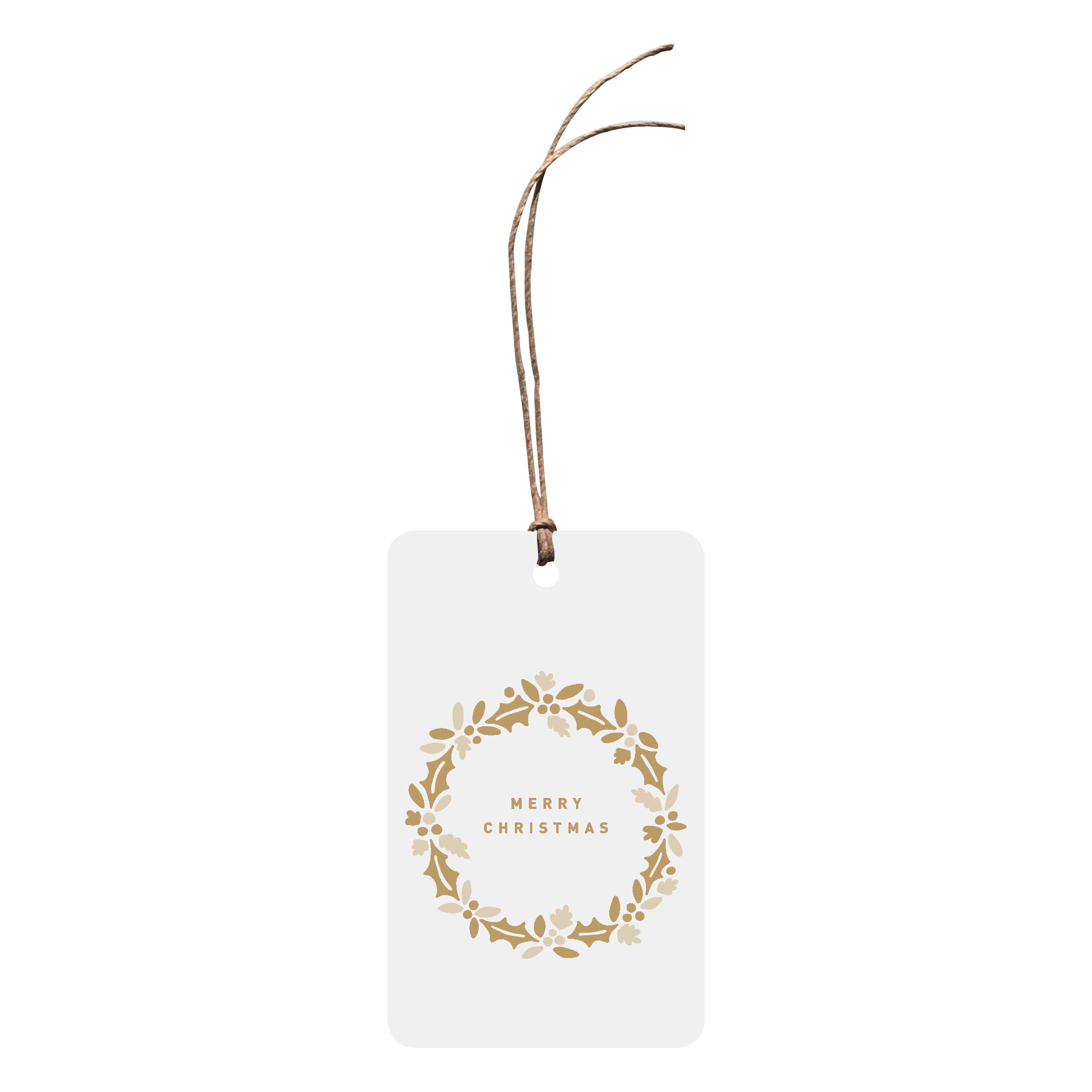 'Merry Christmas Wreath' Christmas Gift Tag