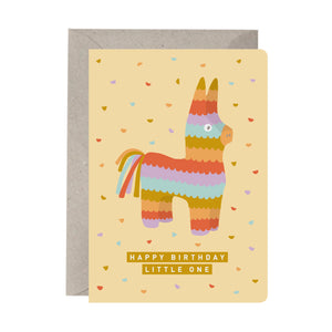 'Happy Birthday Little One Piñata' Kids Birthday Card