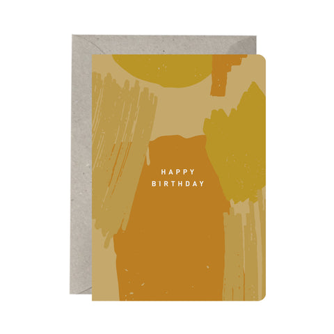 'Happy Birthday Brushstrokes' Greeting Card