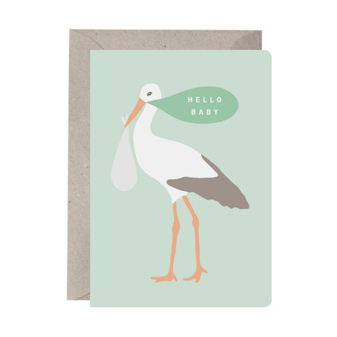 'Hello Baby' Baby Card