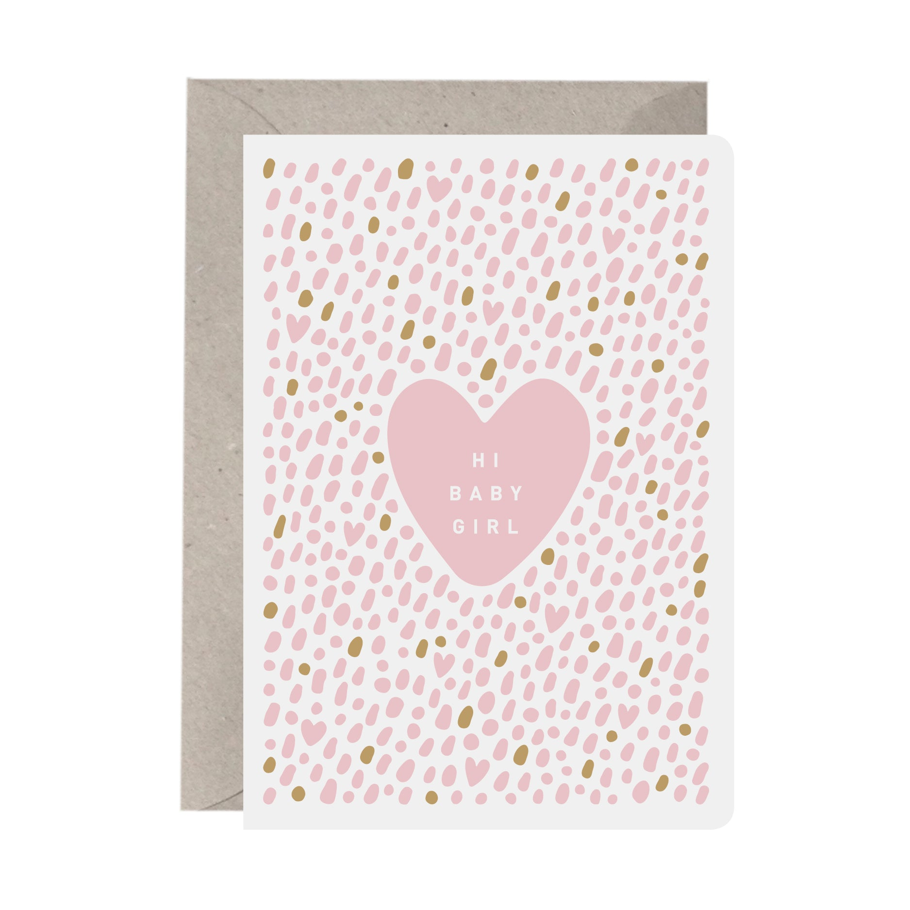 'Hi Baby Girl' New Baby Card