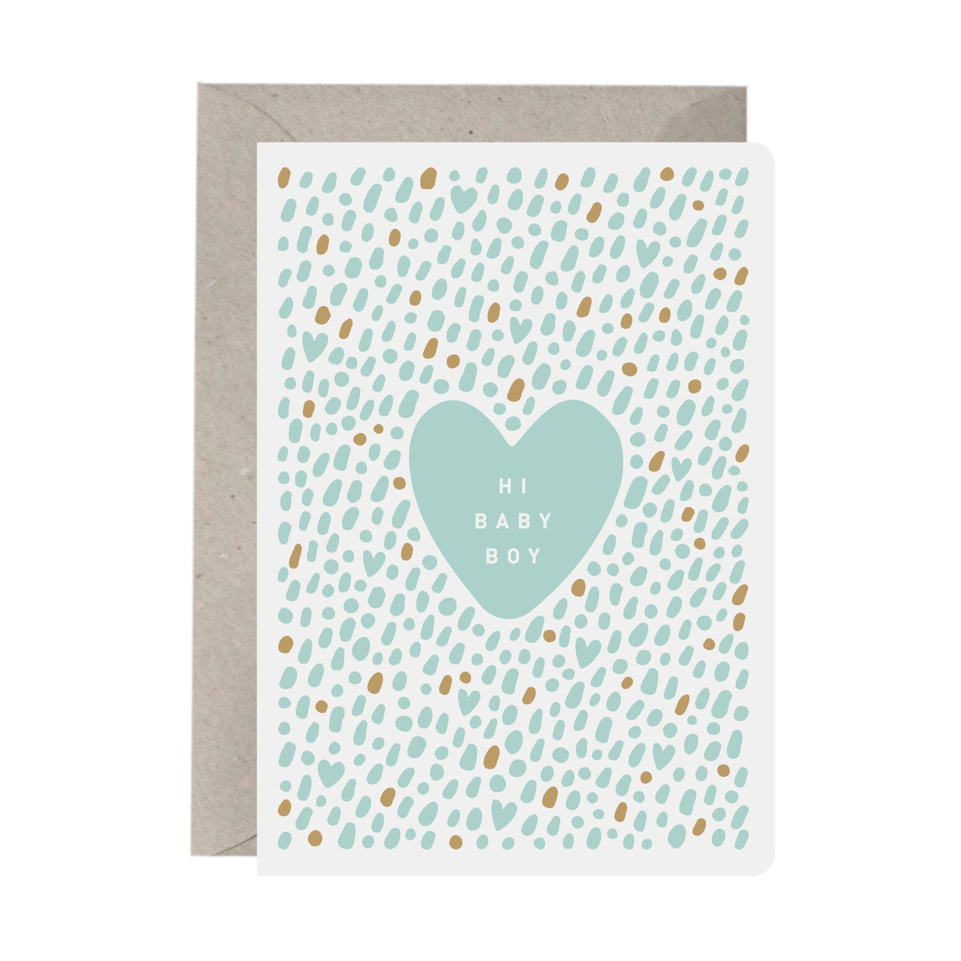 'Hi Baby Boy' New Baby Card