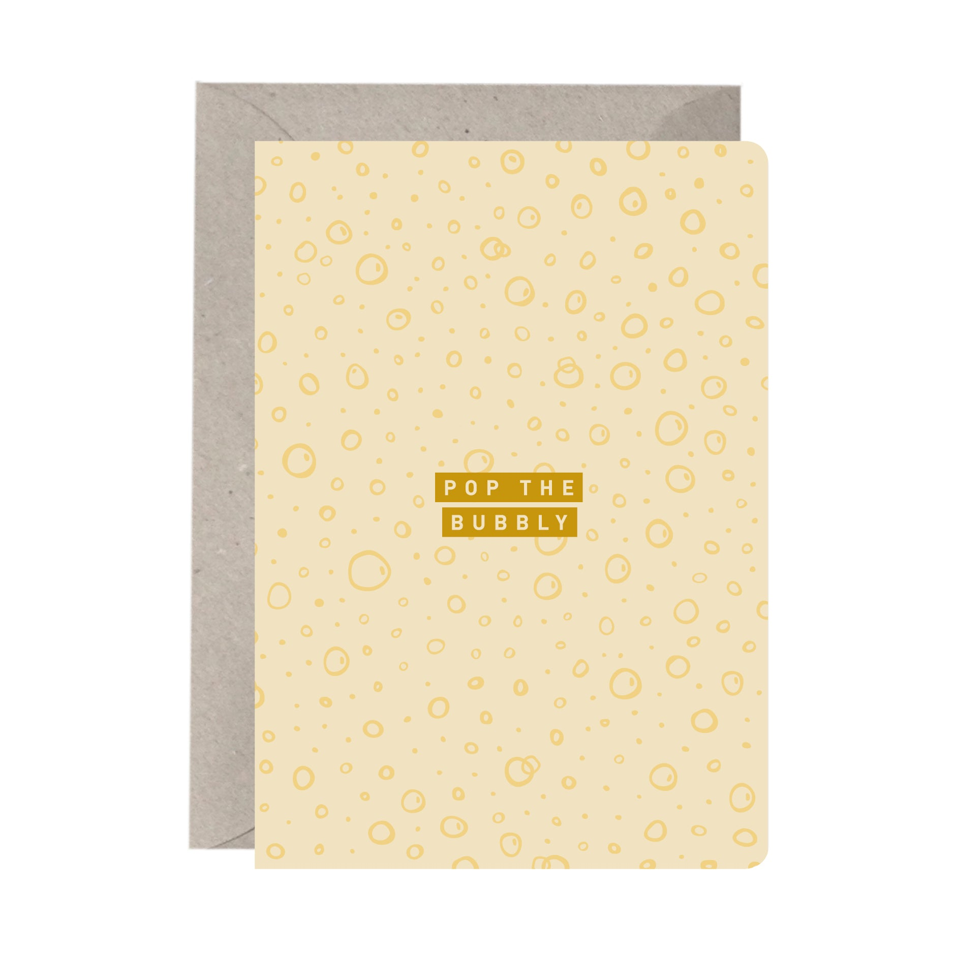 'Pop The Bubbly' Congratulations Card