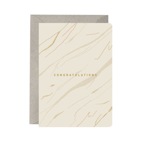 'Congratulations Marble' Greeting Card