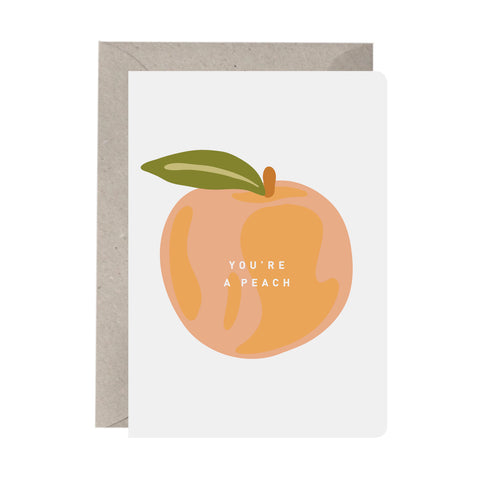 'You're a Peach' Greeting Card
