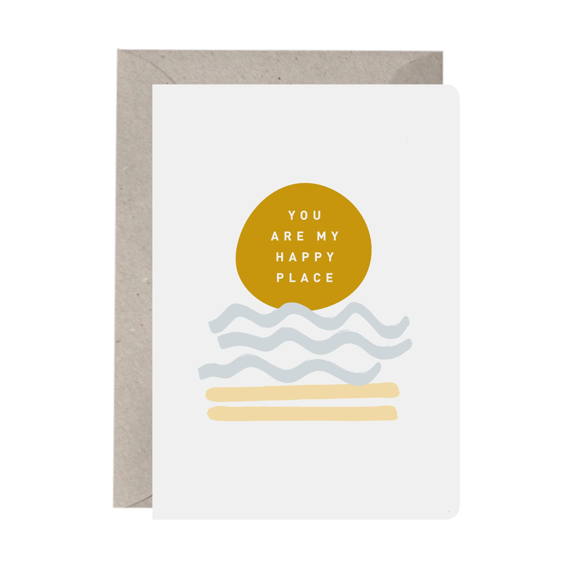 'You Are My Happy Place' Greeting Card