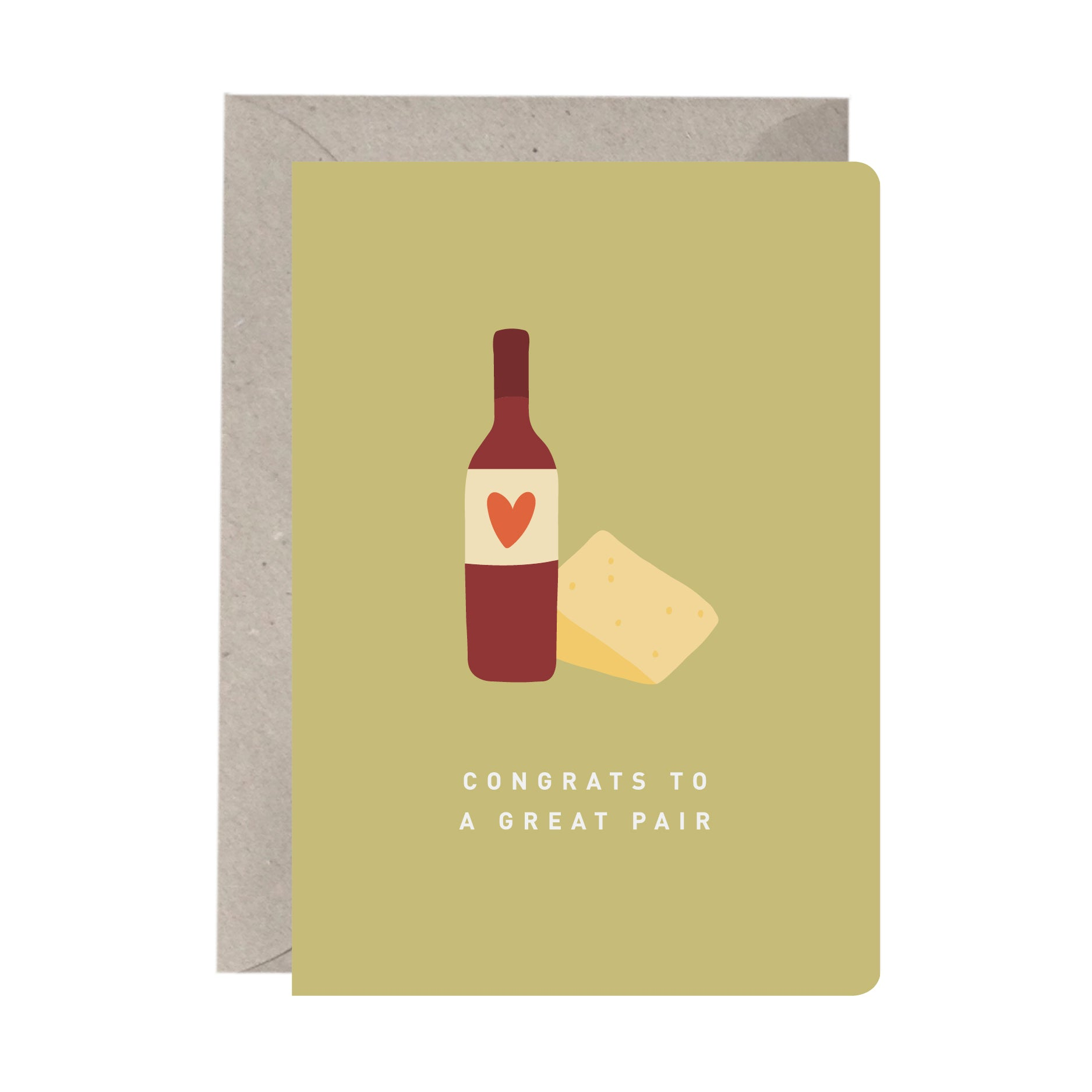 'Congrats to a Great Pair' Engagement or Wedding Card