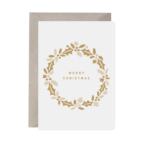 'Merry Christmas Wreath' Christmas Card