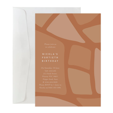 'Abstract Leaves' Invitation