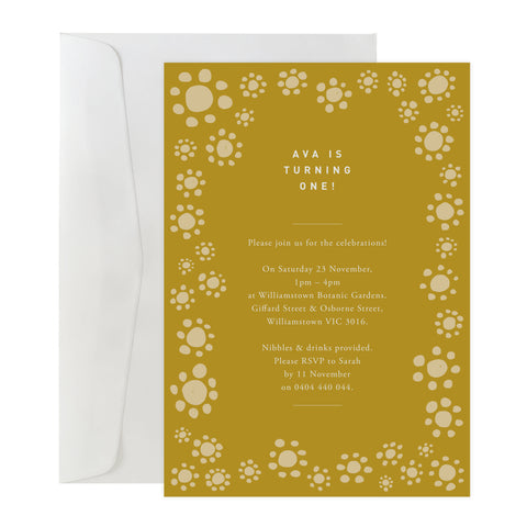'Sunflower' Invitation