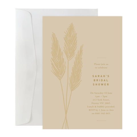 'Pampas' Invitation