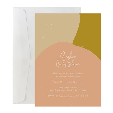 'Colour Block' Invitation