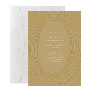 'Tree Rings' Invitation