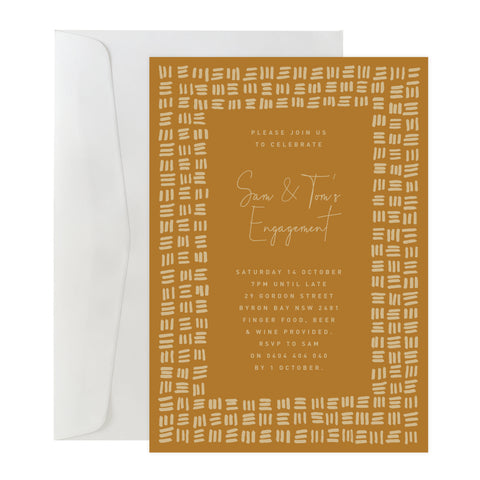 'Checker Plate' Invitation