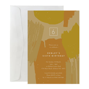 'Brushstrokes' Invitation