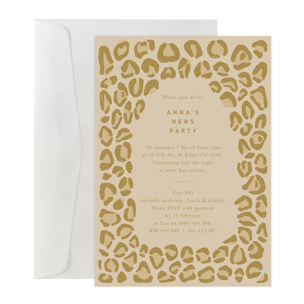 'Leopard' Invitation