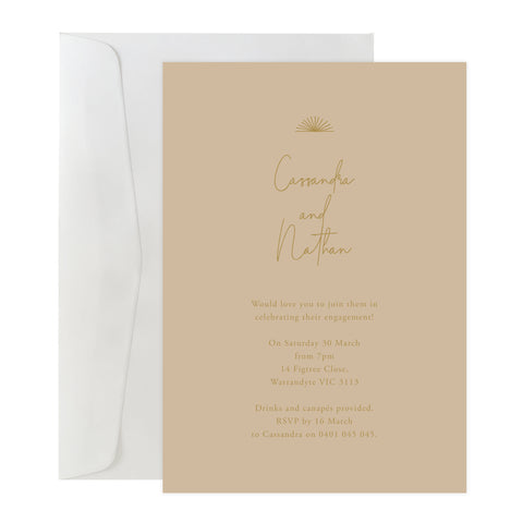 'Sunrise' Invitation