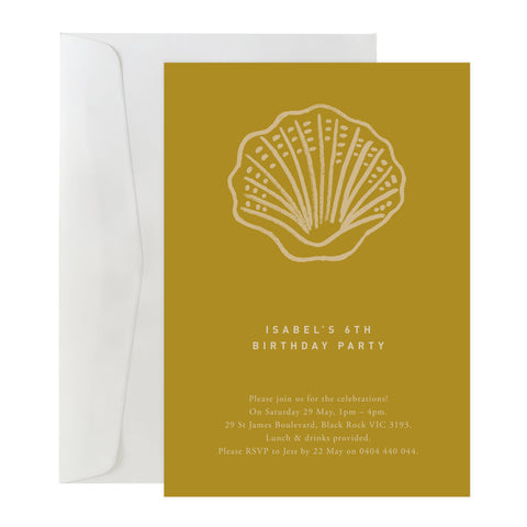 'Seashell' Invitation