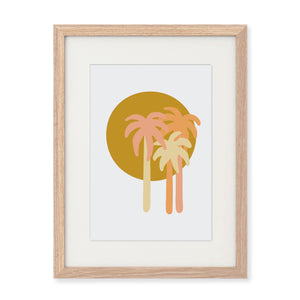 'Sunset Palms' A4 Print