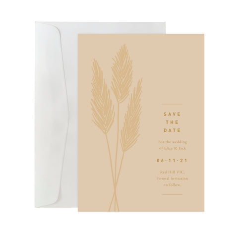'Pampas' Save The Date Card