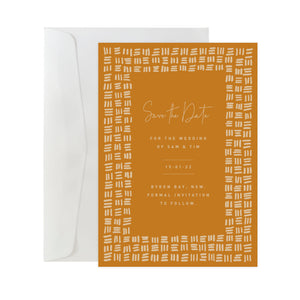 'Checker Plate' Save The Date Card
