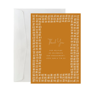 'Checker Plate' Custom Thank You Card