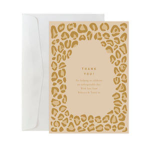 'Leopard' Custom Thank You Card