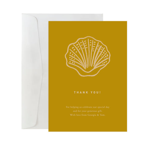 'Seashell' Custom Thank You Card