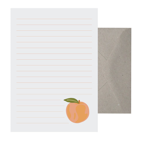 'Peachy' Writing Set
