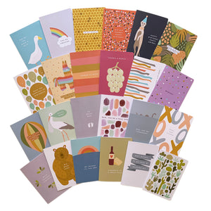 'Yearly Hoard' Greeting Card One Year Supply Mixed Set of 24