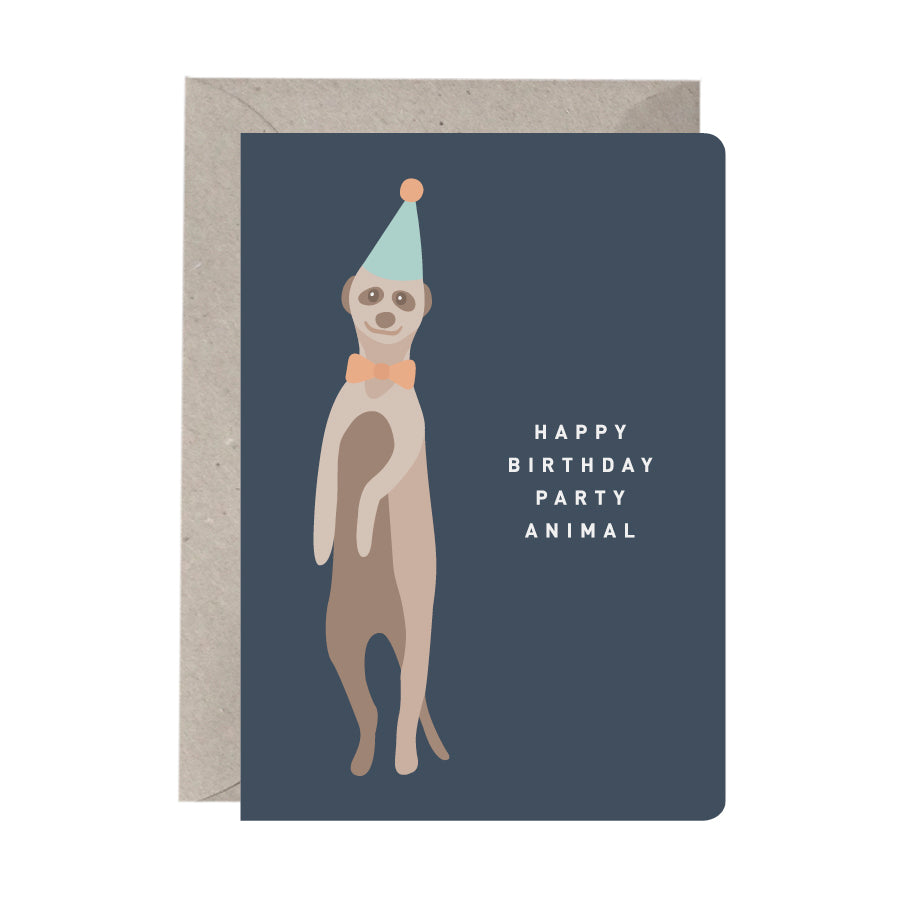 'Happy Birthday Party Animal' Birthday Card