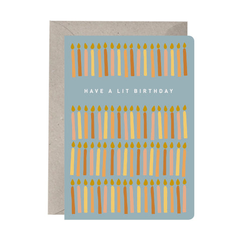 'Have A Lit Birthday' Birthday Card