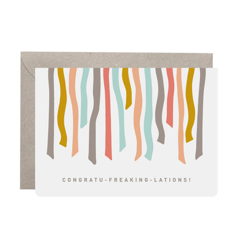 'Congratu-freaking-lations!' Congratulations Card