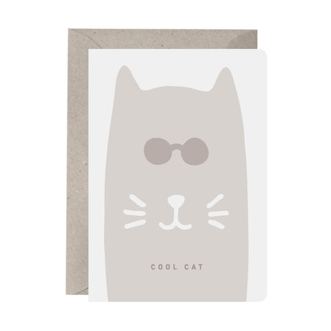 'Cool Cat' Greeting Card