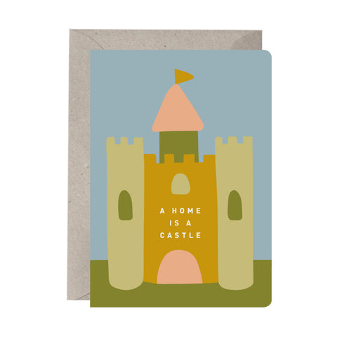 'A Home Is A Castle' Greeting Card