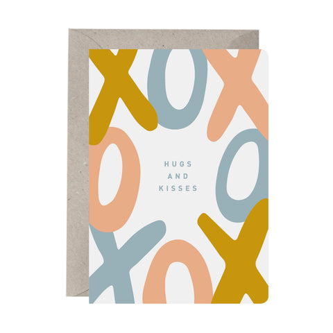 'Hugs And Kisses' Greeting Card