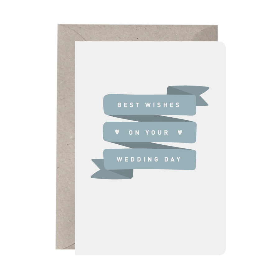 'Best Wishes On Your Wedding Day' Wedding Card