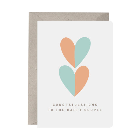 'Congratulations To The Happy Couple' Greeting Card
