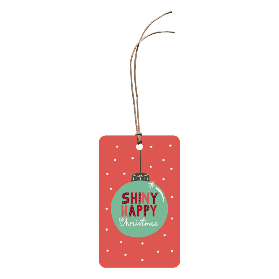 'Shiny Happy Christmas' Christmas Gift Tag