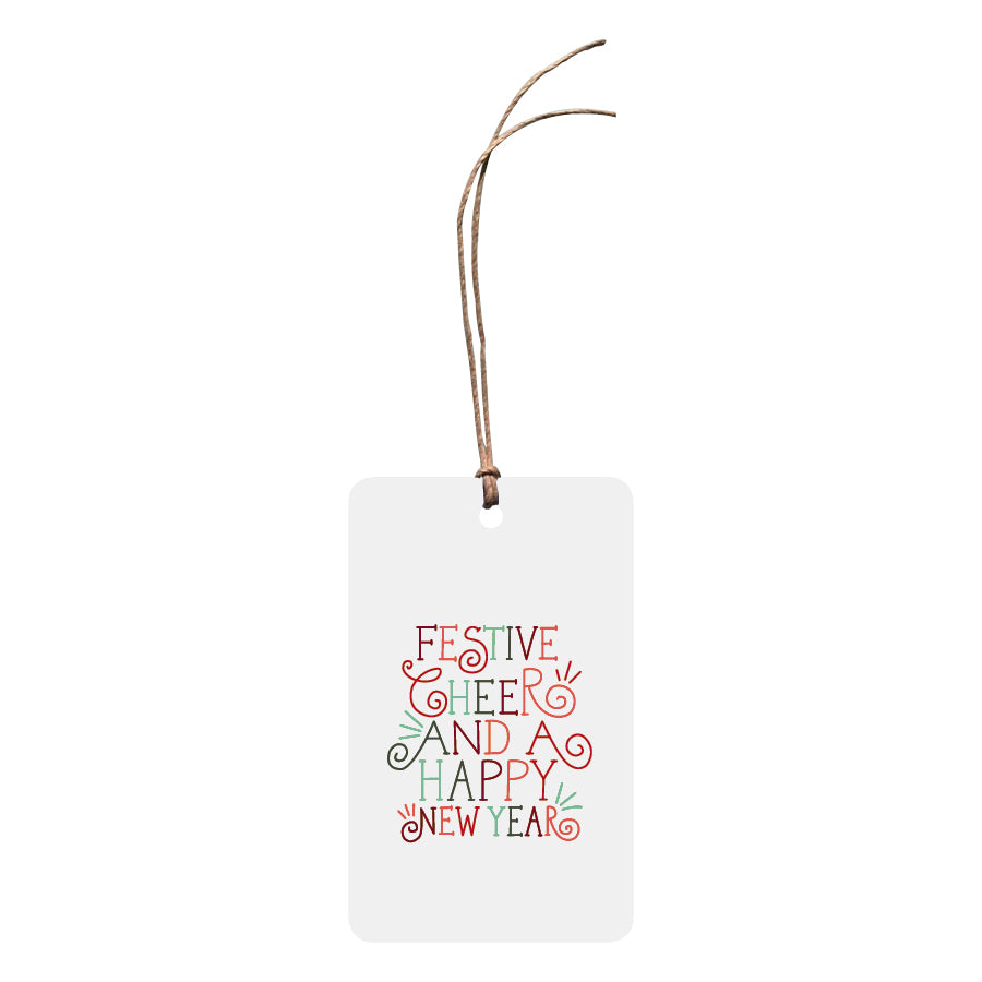 'Festive Cheer And A Happy New Year' Christmas Gift Tag