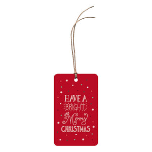 'Have A Bright And Merry Christmas' Christmas Gift Tag