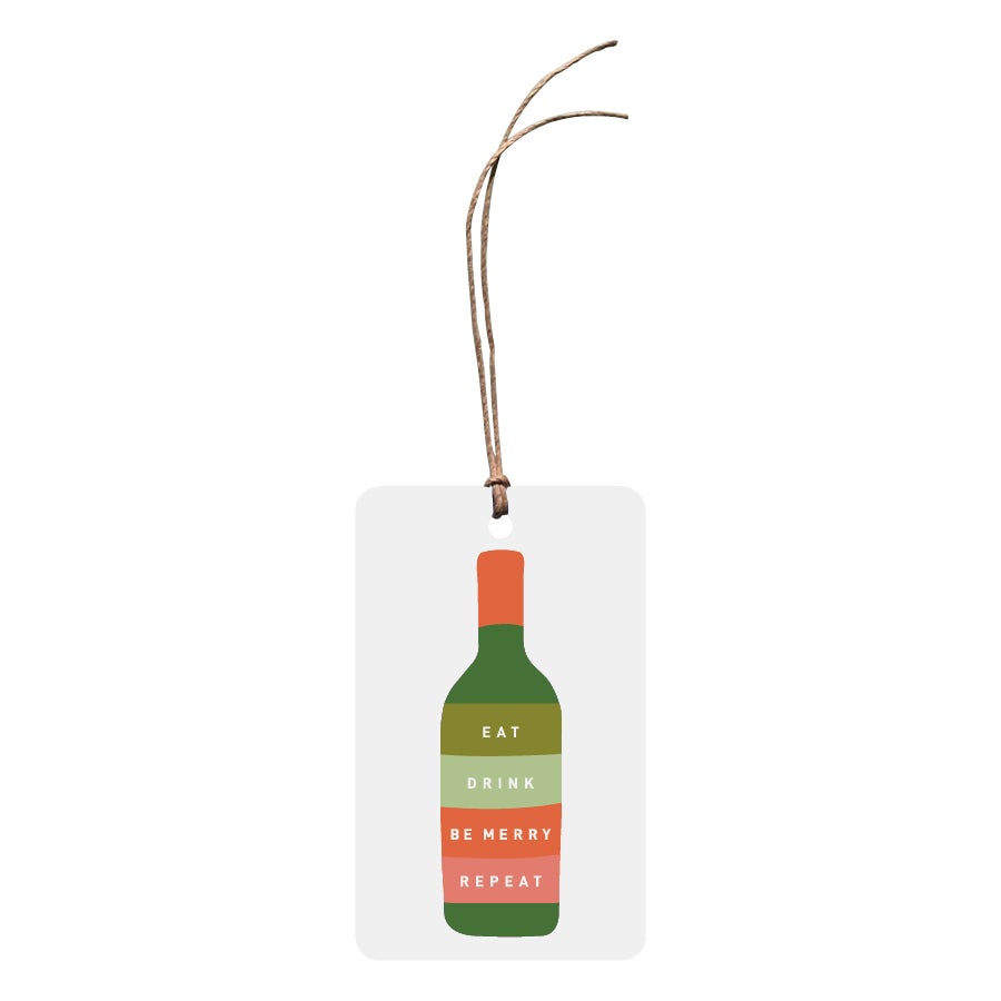 'Eat, Drink, Be Merry, Repeat' Christmas Gift Tag