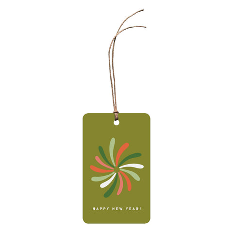 'Happy New Year!' Festive Gift Tag